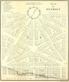 Detroit, Woddward plan, 1807