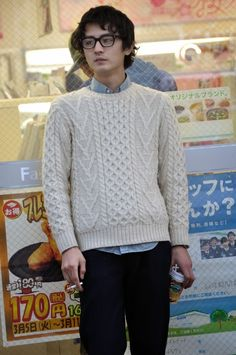 MItyp: on the street .. Harajuku - Aran Knit / ざっくりのオフホワイトニット -