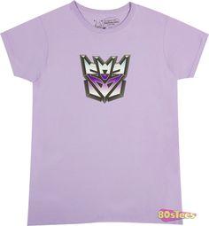 Ladies Transformers Decepticon Logo Shirt
