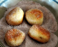 You can make a combination of Parmesan bites with a Cheese dip or Cinnamon and Sugar bites with a Vanilla glaze for dipping. Yummy!!!