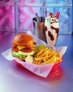 american food, diner food, cheeseburger, fries, milkshake, yum,