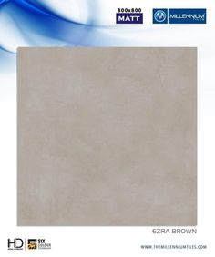 "Millennium Tiles 800x800mm (32x32) Vitrified Matt Porcelain XL Tiles Series ""Ezra Brown"""