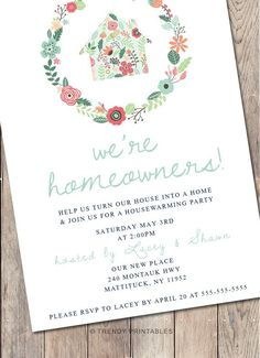 Housewarming Party Invitation Housewarming Invitation Printable Invitation Our First Home Our New Home Housewarming Invitations Housewarming Party Invitations, Printable Invitations, Housewarming Wishes, Shower Invitations, Invite, Cactus Rose, 30th Birthday Ideas For Women, Shabby, Birthday Woman