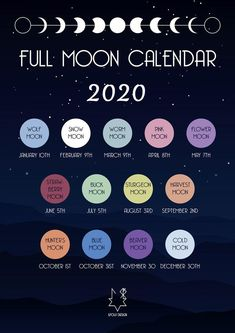 Full Moon Phases, Next Full Moon, New Moon Rituals, Full Moon Ritual, Full Moon Spells, Moon Calendar, Calendar 2020, Cold Moon, Moon Witch