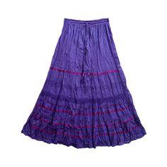Bohemian Skirts, Purple Skirts, Long Maxi Skirts ❤ liked on Polyvore