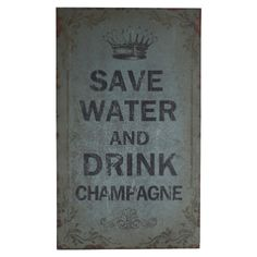 Wide words: 'Save water and drink champagne' #supercarlifestyle