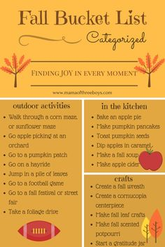 Fall Bucket List (free printable) family friendly | Follow @gwylio0148 or visit http://gwyl.io/ for more diy/kids/pets videos