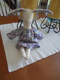 Maggie Rose bunny machine sewn.