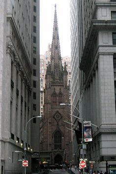 Trinity Church, New York City; Richard Upjohn (phone by wallyg, via Flickr)