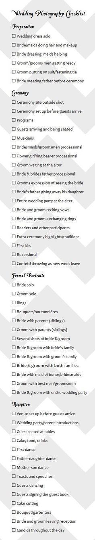 wedding photography checklist best photos - wedding photography - cuteweddingideas.com #weddingphotography