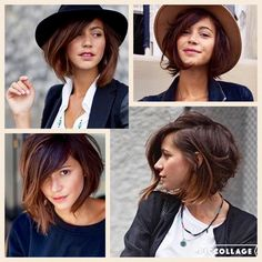 Love this short angled bob