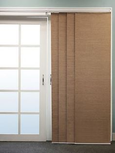 French Double Rail Sliding Panel System | LinenSource...great for sliding door