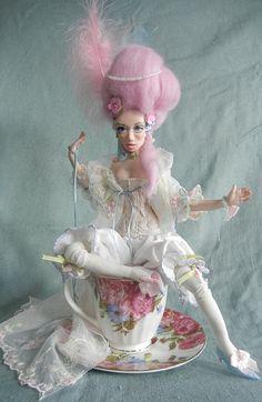CUSTOM DOLL Cortesan a Pastel Confection a ooak by moninesfaeries, $200.00