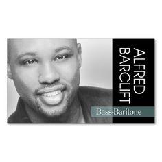 Singer Headshot For Vocalist Musician Conception Cartes De Visite Chanteur