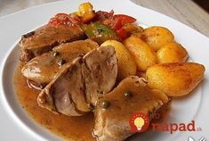Pork medallions in pepper cream sauce (recipe with picture) Food Dishes, Main Dishes, Pork Medallions, Cream Sauce Recipes, Radish Recipes, Sausage Recipes, Pot Roast, Food Pictures, Summer Recipes