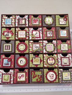 2012 Advent Calendar using Festival of Prints DSP and 25 & Counting stamp set from Stampin' Up!