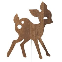 Ferm Living Deer lamp in smoked oak is the ideal addition for your modern nursery or kids room. The perfect kids reading light or nursery night light Bambi, Deer Lamp, Colorful Playroom, Applique, Nursery Night Light, Bright Homes, Unique Lamps, Bedroom Lamps, Inspiration For Kids