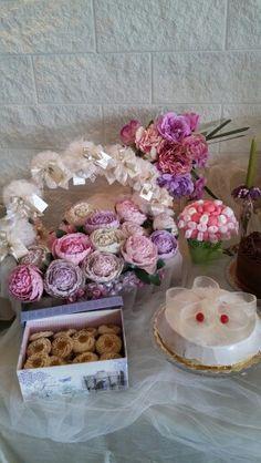 Sweet table - peonie in porcellana fredda