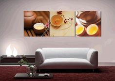 3 piece canvas art  simple life The tea food  wall picture decoration home modern  canvas oil painting  art Prints $24.99