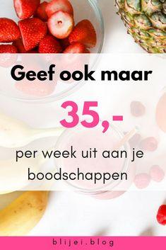 Wil je ook maar 35 euro uitgeven per week aan je boodschappen. Voor twee personen geef ik dit bedrag maar uit per week. Lees verder om erachter te komen hoe ik dit doe. #savemoney #money #food #grocerie #groceries #meals #boodschappen #eten #geldbesparen
