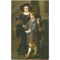 Undivided Early Art Postcard of Sons of Rubens from madgelee on Ruby Lane