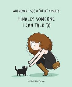 Am I an Introvert IllustrationsYou can find Cat lady and more on our website.Am I an Introvert Illustrations Crazy Cat Lady, Crazy Cats, I Love Cats, Cute Cats, Funny Cats, Funny Animals, Memes Chats, Funny Illustration, Illustrations