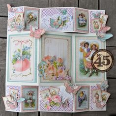 Love Susan Lui's beautiful Sweet Sentiments card and tutorial. Wow your family and friends by trying it today! #graphic45 #cards ~ Wendy Schultz - Easter - Cards, Crafts + Decor.