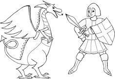 George's Day Colouring Pictures – free printable coloring … Make your world more colorful with free printable coloring pages from italks. Our free coloring pages for adults and kids. George & Dragon, Saint George And The Dragon, Coloring Book Pages, Coloring Pages For Kids, St George Flag, Beaver Scouts, St Georges Day, Bible Story Crafts, Dragon Pictures