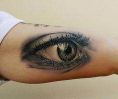 Realistic Eye Tattoo | Arm Realistic Eye Tattoo by Peter Tattooer
