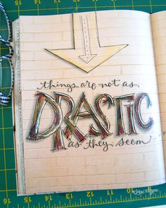 Lettering - Art Lettering - Hand Lettering -Typography - Calligraphy - very cool!
