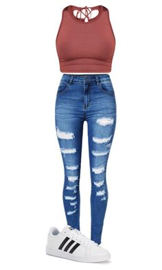 """""""Untitled #849"""" by aaisha123 ❤ liked on Polyvore featuring WithChic and adidas"""