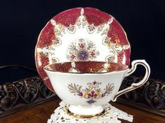Paragon Teacup, Wide Mouthed, High Handled, Tea Cup & Saucer