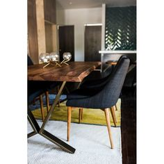 Alegria Edge Solid Wood Dining Table & Reviews Solid Wood Dining Table, Dining Room Table, Table And Chairs, Dining Chairs, High Chairs, Dining Sets, Modern Dining Table, Wooden Tables, Muebles Living