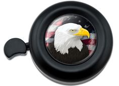 Amazon.com : Cool and Custom {Fully Adjustable to Fit Most Bikes} Bicycle Handlebar Bell Made of Hard Metal with Patriotic American Bald Eagle Labor Day USA Flag Design {Black, Red, White, Yellow & Blue Colors} : Sports & Outdoors