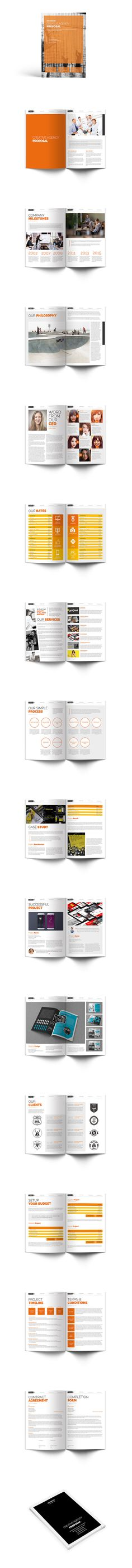 Proposal Brochure Template InDesign INDD - US Letter Size - proposals templates