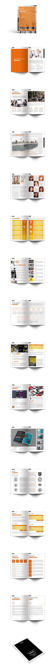 Proposal Brochure Template InDesign INDD - US Letter Size - proposals templates