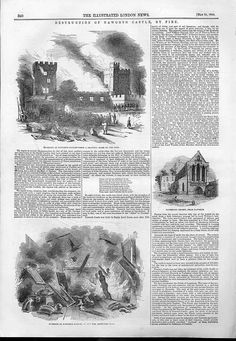 1844 Destruction Narworth Castle By Fire
