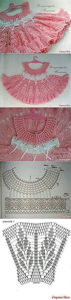 ملابس كروشيه [] # # #Crochet #Baby #Dresses, # #Crochet #Patterns, # #Kids #Crafts, # #Elba, # #Dress #Clothes, # #Mendoza, # #Home #Accessories, # #Tissue, # #Crochet