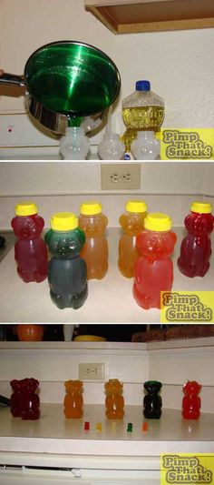 """Couldn't decide whether to """"pin"""" this under Party Food or """"Be still my beating heart""""!  How to make giant gummy bears!"""
