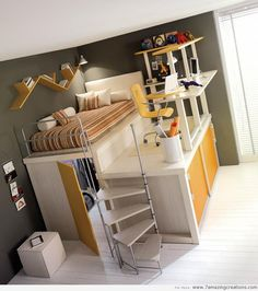 Nice use of space - love the desk deck & walk in closet