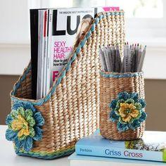 Simplesmente Fascinante: organizar..... | Плетение из газет | Постила