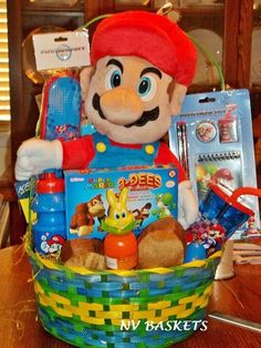Nintendo super mario easter basket perfect for birthdays easter mario easter basket negle Gallery