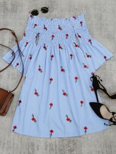 GET $50 NOW | Join Zaful: Get YOUR $50 NOW!https://m.zaful.com/floral-embroidered-flare-sleeve-striped-dress-p_295652.html?seid=6326499zf295652