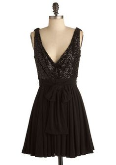 Low-plunge sequin party dress