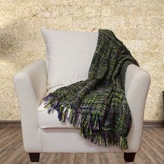 Oversized Throw in Lavender & Sage