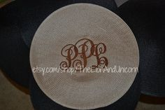 Monogrammed Placemats set of 4 by thelionandunicorn on Etsy, $50.00