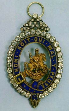Badge of the Most Noble Order of the Garter. The Order of the Garter, one of the oldest secular orders was instituted by Edward III in 1348 as a military order consisting of the king and twenty five knights and is in the gift of the reigning monarch. British Crown Jewels, Order Of The Garter, Military Orders, Plantagenet, Hermitage Museum, Military Insignia, Arts Award, Royal Jewelry, Gold Work