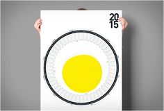 Calendrier circulaire design 2015 de Sören Lachnit - #Design - Visit the website to see all photos http://www.arkko.fr/calendrier-circulaire-design-2015-de-soren-lachnit/