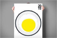 O Calendário Circular (Circular Calendar) é um calendário de parede bonito e incomum projetado pelo designer alemão de interface Sören Lachnit.  Veja os detalhes:http://bit.ly/1DpFwpF