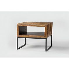 Modern with organic textures. Great as a night stand or side table. Small enough for a condo unit!